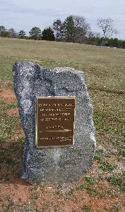 Marker near the traditional birthplace of Abraham Lincoln in Rutherford County, NC